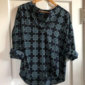 Ann Taylor Tunic Shirt w/Rollup Sleeves, Lg P